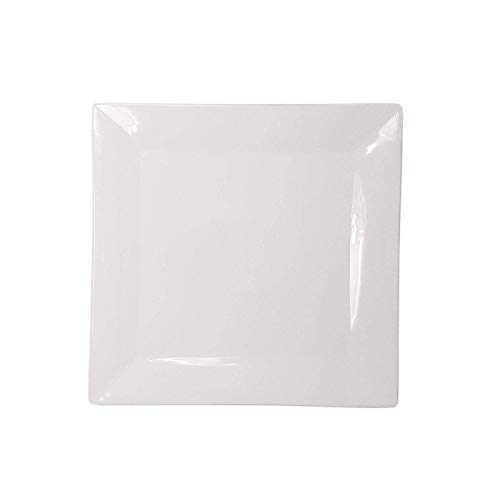 Lovely Porcelain Dinnerware Formal White Round &Square Plates Chargers Bowl Cup Saucer Wedding Receptions Anniversary Dinners Modern Appeal Plates-White-10 Inch Square White Dinner Plate (6) ()
