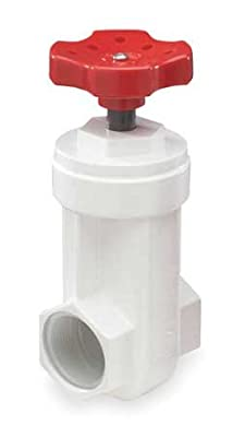 Gate Valve, 1 In., FNPT, PVC from NDS