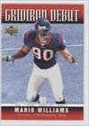 2006 Upper Deck Gridiron - Mario Williams (Football Card) 2006 Upper Deck - Gridiron Debut #1GD-MW