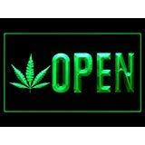 Open Marijuana Hemp Leaf High Life Display Led Light Sign (Weed Leaf Neon)