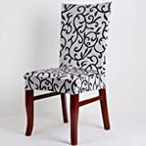 Cut Through Chair Cover Table & Sofa Linens - Wx-912 Elegant Spandex Elastic Stretch Chair Seat Cover Computer Dining Wedding Decor - Preside Masking Natural Covering Book Binding - 1PCs