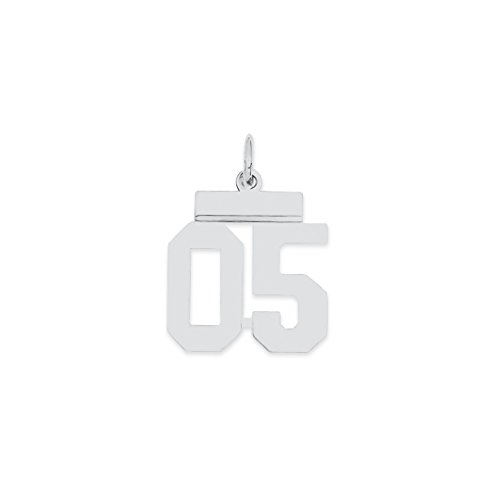 925 sterling silver small number 05 top