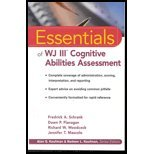 Essentials of WJ III Cognitive Abilities Assessment (02) by Schrank, Fredrick A - Flanagan, Dawn P - Woodcock, Richard W [Paperback (2001)]