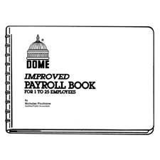 Dome Publishing Co Inc Payroll Books, 1-15 Employees, 10''X6-1/2'', Blue by SP Richards