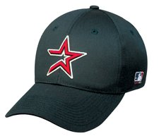MLB YOUTH Houston ASTROS Home Black Hat Cap Adjustable Velcro TWILL