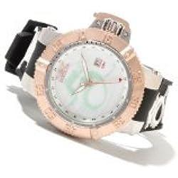 Men's Invicta 13913 Subaqua Noma III Lume Dragon Quartz GMT White Dial Rubber Strap Watch
