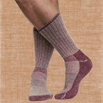 Maggie's Functional Organics Killington Mountain Hiker Socks Raspberry 10-13 (a) - 2pc