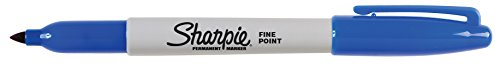 Sharpie Permanent Markers, Fine Point, Blue, 36-Pack (1920932) by Sharpie (Image #2)