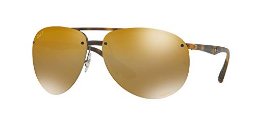 Ray-Ban Herren Sonnenbrille 0RB4293CH, 894/A3 Matte Havana/Brownmirgoldgradientpolar, 64 (Ray Ban Aviator Sonnenbrillen)