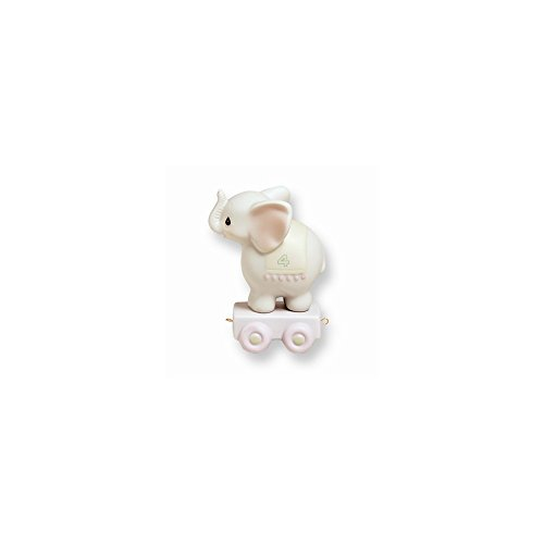 Precious Moments Age Four Elephant Porcelain Figurine (Age 4 Porcelain Figurine)
