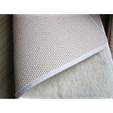 Alpenwolle Sportmatte Rutschfest, Yogamatte,Gymnastikmatte, Fußmatte,Bettteppich 100% Wolle (beige, 50x200 cm)