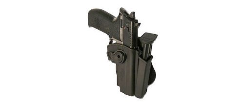 Detachable Mag Pouch Black by IMI RSR Defense Polymer Retention Roto Holster CZ 75 SP-01 Shadow