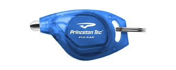 Princeton Tec Pulsar Key Chain Light (10 Lumens, White LED, Blue Body) Princeton Blue Flashlight