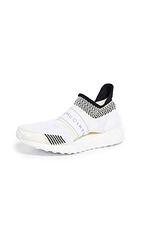 adidas by Stella McCartney Women's Ultraboost X 3D Sneakers, Core White/Radiant Orange, 10 Medium US