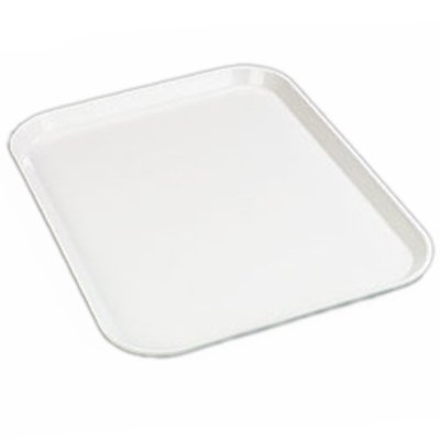 - Bone White Glasteel Solid Color Rectangular Fiberglass Tray 10 x 13 inch - 12 per case