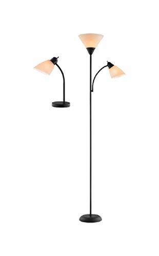 Tensor adjustable gloss black lamp set