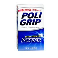 Super Poligrip Denture Adhesive Powder Extra Strength - 1.6 oz (Pack of 2) by Glaxosmithkline Consumer