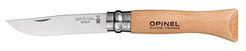 Opinel No6 Stainless Steel Folding Knife with Beechwood Handle