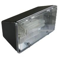 Enertron #8026B 2-Light Polycarbonate Fluorescent Floodlight Fixture, 4in. x 4.5in. x 8.5in, w/out 13W CFL lamps, 1800 lumens, 10,000hr life, 120 volt, Black - Fluorescent Polycarbonate Floodlight