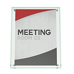 deflecto 799693 Superior Image Beveled Edge Sign Holder, Acrylic, 8 1/2 X 11 Insert, Clear