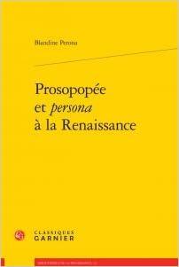 Livres Prosopopée et persona à la Renaissance pdf