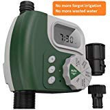 (Faucet Timer Single Outlet Hose Faucet Outdoor Waterproof Digital Programmable Automatic Timer with Rain Delay and Manual Control for Garden Irrigation Timer Green)