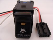 Jeep 1997-2006 TJ Rocker Switch- Zombie Lights Logo
