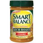 Smart Balance All Natural Rich Roast Creamy Peanut Butter 16 oz (Pack of 12)