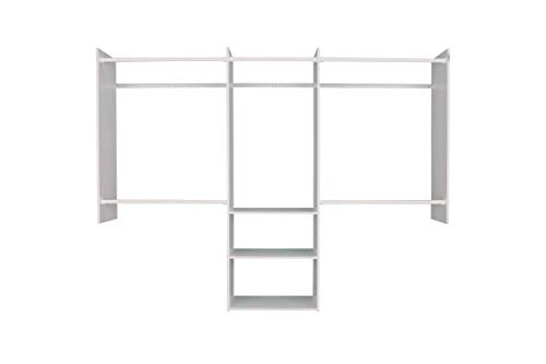 Easy Track Deluxe Starter Kit closet storage, 4'-8', Weathered Grey