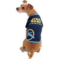 STAR WARS Dog T-Shirt - 'May the Force Be With You' (Small)