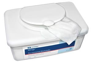 Wings Personal Cleansing Washcloths - COVIDIEN/MEDICAL SUPPLIES WINGS PERSONAL CLEANSING WASHCLOTH Washcloth, 8.7
