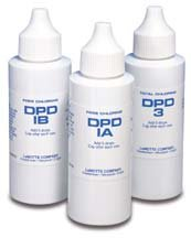 LaMotte DPD 1A, 1B and DPD 3-2 ounce bottles