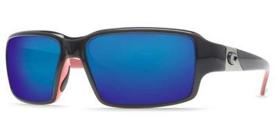 Costa Peninsula 400G Sunglasses - Polarized Black/Coral-Blue Mirror, One - Sunglasses Costa Peninsula