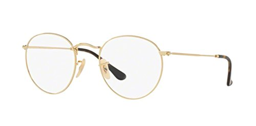Ray-Ban Men's Round Metal 3447V Optical Frames,Gold, 50 2500