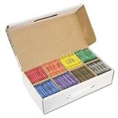 Prang Crayons Made with Soy, 100 Each of 8 Colors, 800/Carton by Prang