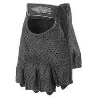 Power Trip Women's Graphite Perforated Gloves - Medium/Black