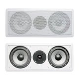 Acoustic Audio CS-IW26CC 250 Watts In-Wall Dual 6.5-Inch Center Channel Speaker, White (Subwoofer And Center Speaker)