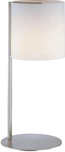 Lite Source LS-20844PS/FRO Velia Table Lamp, Polished Steel with Frost Glass Shade, Silver ()