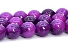 "8MM Sugilite Rain Flower Jade Beads Grade AAA Round Gemstone Loose Beads 15.5"""