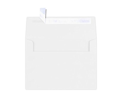 LUXPaper A7 Invitation Envelopes for 5 x 7 Cards in 80 lb. Bright White, Printable Envelopes for Invitations, w/Peel and Press Seal, 1000 Pack, Envelope Size 5 1/4 x 7 1/4 (White)