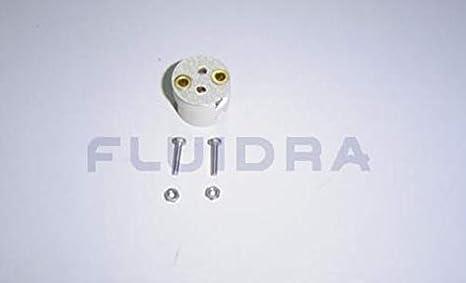 Recambio repuesto porta lampara/bombilla foco proyector plano Astral Pool Ref. 4403011403