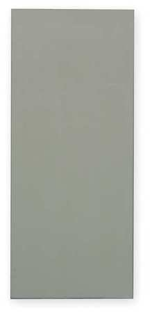 42'' x 18'' Urinal Screen Toilet Partition, Solid Polymer, Gray by GLOBAL PARTITIONS