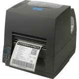 Citizen America CL-S621-GRY CL-S621 Series Thermal Transfer/Direct Thermal Barcode and Label Printer with USB/Serial Connection, 4'' Maximum Print Width, 203 DPI Resolution, Gray