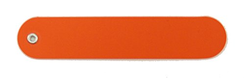 National Band & Tag Company Orange Plastic Plant Label with Copper Wire Attachments and All Weather Marker (Pack of 100)