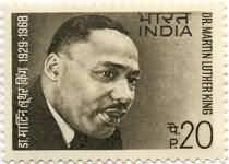 Sams Shopping Martin Luther King Personality Pastor Activist Humanitarian Human Rights Nobel Laureate 20 P Stamp ()
