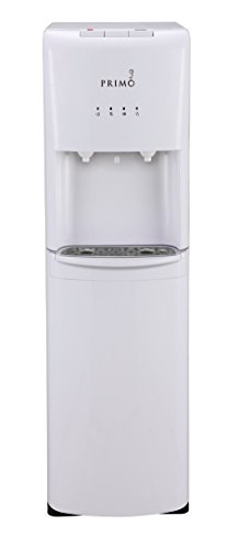 Primo Bottom Loading Water Cooler - 2 Temperature Settings, Hot & Cold - Energy Star Rated Water Dispenser with Child-Resistant Safety Feature Supports 3 or 5 Gallon Water Jugs [White]