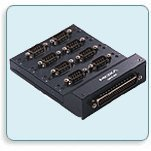 MOXA Opt8-M9+ VHDCI 68 to DB62, DB62 Male to 8-Port DB9 Male RS-232 Connection Box