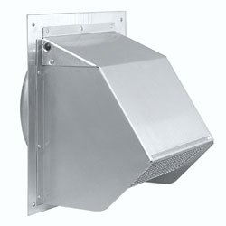 Cap Aluminum Wall (Broan-Nutone 641FA Aluminum Fresh Air Inlet Wall Cap for 6