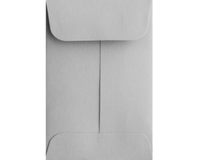 #1 Coin Envelopes (2 1/4 x 3 1/2) - 28lb. Gray Kraft (1000 Qty.) | Perfect for Weddings, Parties & Place Cards | Fits Small Parts, Stamps, Jewelry | Mini / Crafting Envelopes | 80lb Text Paper