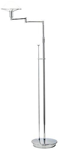 Antique Arm Swing Brass Halogen (Holtkoetter 9434 CH SW Lighting for The Aging Eye Halogen Swing-Arm Floor Lamp, Chrome with Satin White Glass)